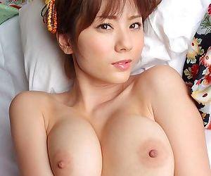 Big knockers yuma asami posing in accustomed japanese clothing - part 4529