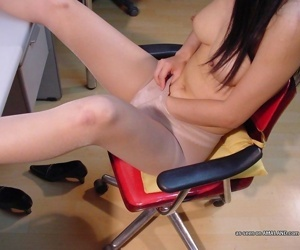 Amateur wild asian gf stripping at the office - part 2919