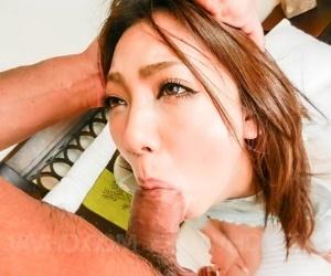 Busty japanese hikari masturbates and sucks a cock - part 668