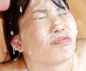 Asian sweeping procurement massive bukkake facials - accoutrement 1369