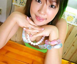 Miki uehara japanese cutie rubbing away cummy desert - part 4345
