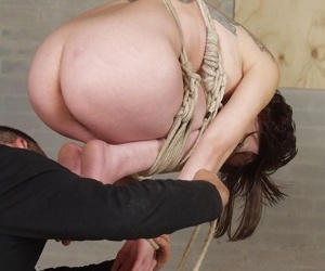 Cute asian chick is tied up in strict rope subjection plus then susp - part 3592