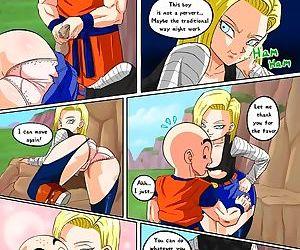 Dragon Ball Z- Good Samaritan 18 meets Krillin-