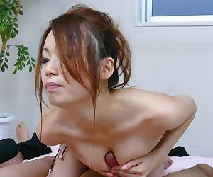 Hot Japanese masseuse Sara Seori does two Asian cocks during the hypnotic