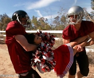 Gaia asian cheer captain gives will not hear of football players a gangbang lesson - part 2937