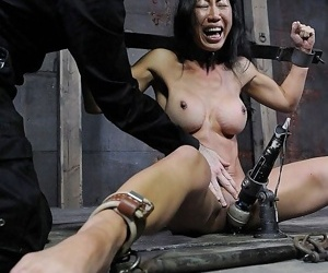 Tia ling busty asian midget is spread bound her pussy toyed round o - attaching 2864