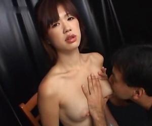 Hot asian girl breastfeeding her boyfriend - fixing 2723