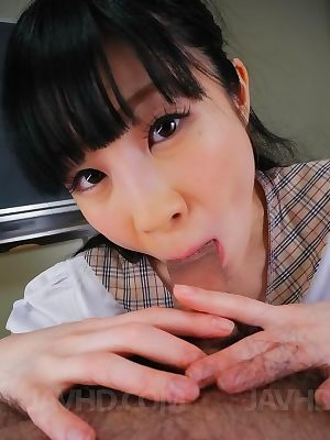 Oriental schoolgirl mizutama remon engulfing happy knob - part 2983