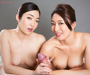 Asian handjob threesome coitus - accoutrement 1911