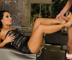 Asian asa akira makes quality footjob in lady-love acts - accouterment 2866