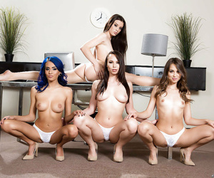 Long-legged pornstars posing be advantageous to all about girl orgy in heels - part 2972