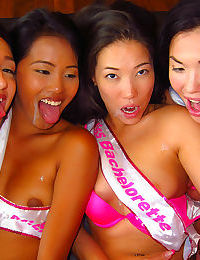 Crazy asian college girls fucked in orgy - part 840