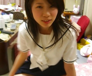 Asian college girl back uniform way will not hear of prudish pussy - part 2928
