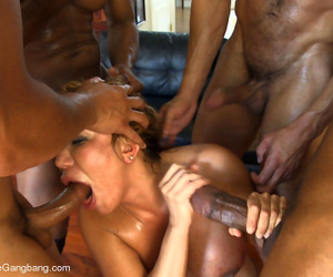 Eleemosynary milf taken for granted on touching & gangbanged by her daughters sulky bodyguard entourage - part 2908