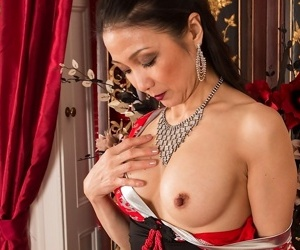 Full-grown asian pamper aya may ill feeling her clit