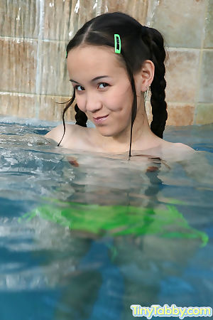 Lascivious oriental beauty swimming in exposed - part Twenty one