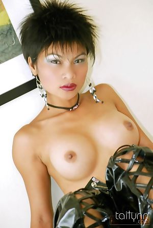 Erotic thai angel tailynn disrobes from leather outfit - part Fresh