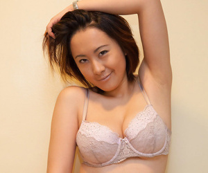 Asian domineer knockout li zheng posing in sexy lingerie - decoration 22
