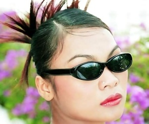 Glamour thai model tailynn shows off the brush spikey hair - part 4