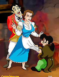 Belle is doubled teamed by gaston and lefou - part 3123