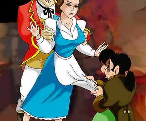 Loveliness is doubled teamed by gaston added to lefou - part 3123