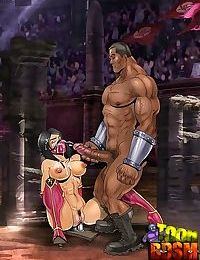 Unlucky toon dom gets trampled by slavegirl - part 3202