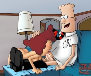 Lucky office guy dilbert getting pussy - part 1419