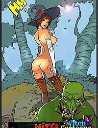 Evil stud fucks a young witch - part 1628