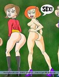 Famous cartoon whores waiting for some meaty dicks - part 687