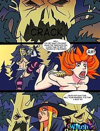 Witch punishes a sexy stacked princess - part 392