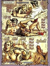 Strong dude fucks two hot ladies in porn comics - part 789