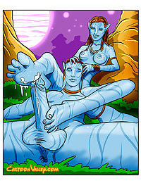 Avatar characters totally naked and having hot alien sex - part 818