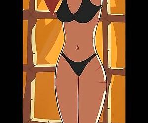 Gorgeous mistress and helpless fem slaves - part 2219