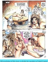Adult art - foxy lady fingering in the shower - part 1847