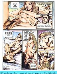 Strong dude fucks two hot ladies in porn comics - part 51