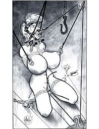 Two chicks tortured in wild bdsm comix - part 3449