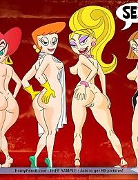 Famous cartoon whores waiting for some meaty dicks - part 181