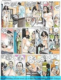 Strong dude fucks two hot ladies in porn comics - part 862