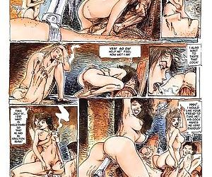 Strong dude fucks two hot ladies in porn comics - part 1833