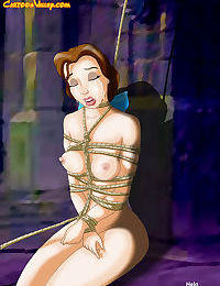 Belle hass been expertly tied with rope for beautiful bdsm action - part 1661