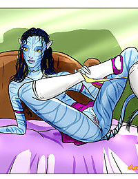 Avatar aliens show us how they enjoy sex - part 3703