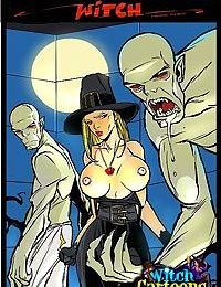 Ghouls make witch eat cum - part 3504