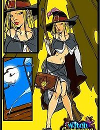 Stacked witch giving sloppy blowjob - part 1014