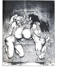 Two chicks tortured in wild bdsm comix - part 2285