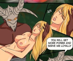 Witch punishes a sexy stacked princess - part 925
