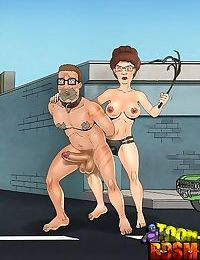 Unlucky toon dom gets trampled by slavegirl - part 884