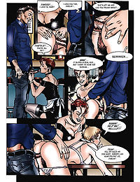 Nice lady gets fucked by bartender and his pal in bar - part 846