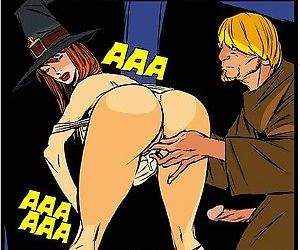 Stacked witch giving sloppy blowjob - part 2906