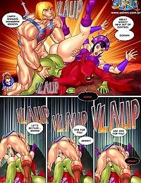 Strong dude fucks two hot ladies in porn comics - part 607