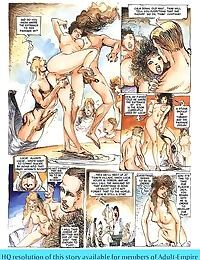 Girls sharing cock in the hottest sex comics - part 189